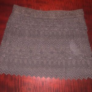 American Eagle Lace Miniskirt